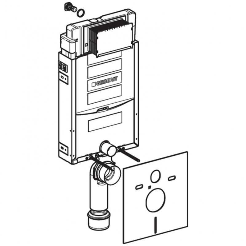 Geberit Sigma Wand-WC-Element Kombifix Plus mit Unterputz ...